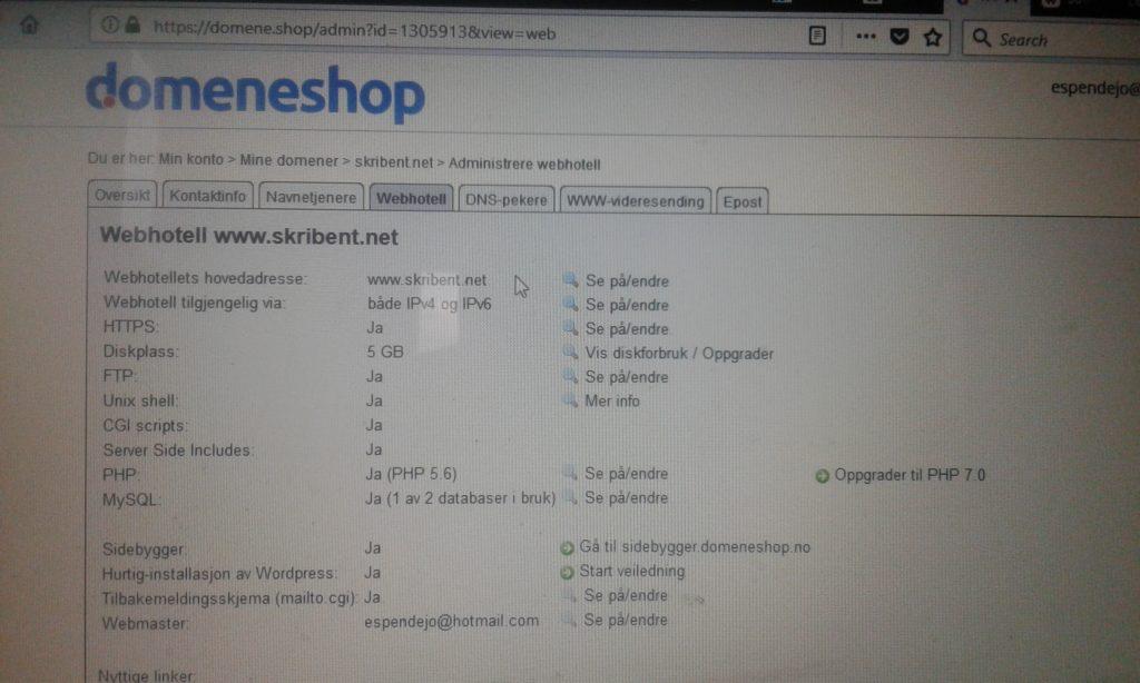 Slik oppretter du webhotell